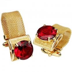 Gemelli di lusso in oro con cristalli