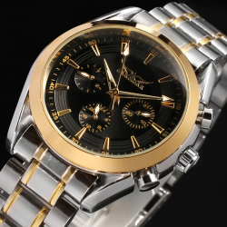 Luxury automatic mechanical stainless steel watch
