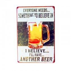 SAVE WATER DRINK BEER vintage metal poster - wall sticker