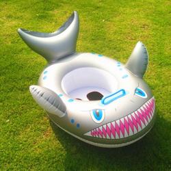 Cartoon shark inflatable baby swimming circle seat