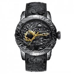 Orologio impermeabile di lusso con dragone scolpito