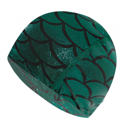 Nylon swimming cap with mermaid pattern - unisex