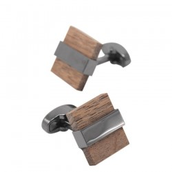 Gemelli quadrati in legno alla moda
