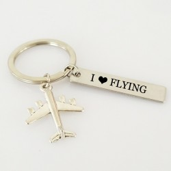 I love flying - keychain