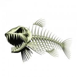 3D fish skeleton - car & motorcycle sticker 13 * 85cm