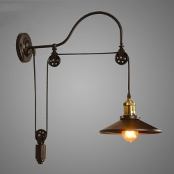 Retro iron wall lamp - adjustable length