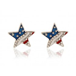 Crystal stars earrings - stainless steel
