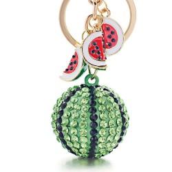 Green crystal watermelon - keychain