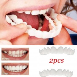 Silicone teeth cover - denture 2 pieces