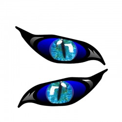 3D zombie eyes - vinyl car sticker 13 * 5cm