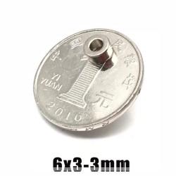 Magneti ad anello forte al neodimio N52 6 * 3 * 3mm 50 pezzi