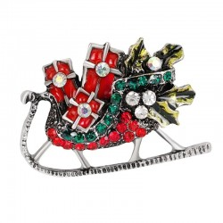 Christmas crystal brooches