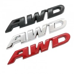 3D AWD - car sticker - chrome