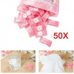 Asciugamano da viaggio compresso - cotone 50 pezzi
