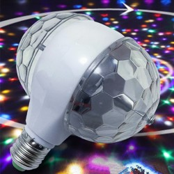 6W LED E27 RGB light - rotating bulb with dual head - stage & disco lamp