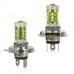 80W - H1 H3 H4 H7 H8 9005 9004 / 4300K LED 2835 - Lampadina 12V - fendinebbia gialli - fari anteriori - 2 pezzi