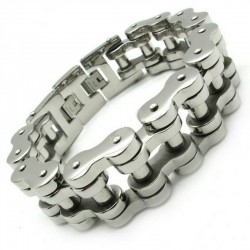Men's motorcycle chain bracelet 22mm - 316L stainless steel