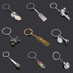 Flip flops - microphone - traffic lights - metal keychain