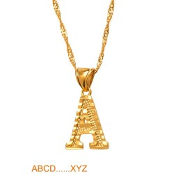 Gold plated necklace with alphabet letters
