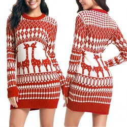 Christmas long sweater - mini dress