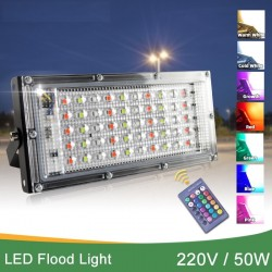 220V 50W - Led floodlight - IP65 waterproof - outdoor refletor - lamp with RGB remote