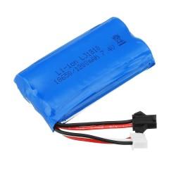 HS 18650 7.4V 1200mAh 25C 2S - li-ion battery - anti-reverse plug for 18301/18302 18311/18312 Rc Car