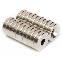 Magnete al neodimio N50 - incasso con foro da 4 mm - 12 * 3 mm - 20 pezzi