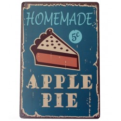 Homemade apple pie metal sign poster