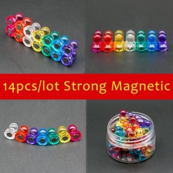 D11 - 15D - magnetic neodymium thumb tacks pins - fridge magnets 14 pieces