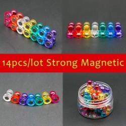 D11 - 15D - magnetic neodymium thumb tacks pins - fridge magnets 14 pieces