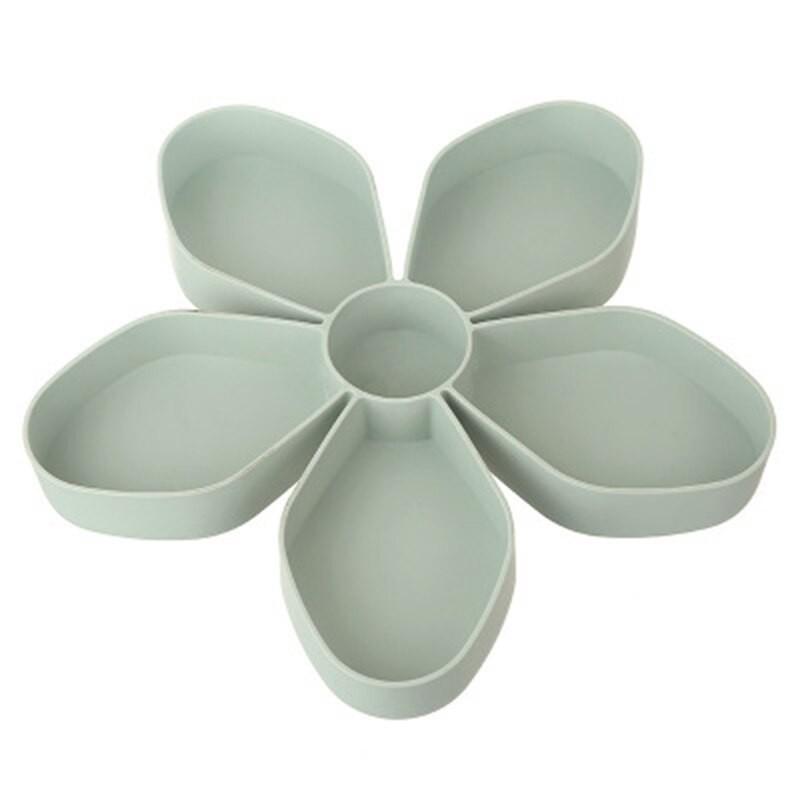 Petal-shaped snack box tray - rotating - food storage