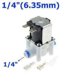 """Elettrovalvola in plastica - tubo flessibile 1/4 """"-3/8"""" - sistema di osmosi inversa ad acqua RO a connessione rapida"""