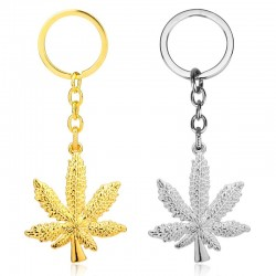 Maple leaf shaped keyring