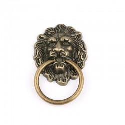 Alloy lion head - antique furniture handle - 67 * 43mm - 1 piece