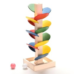 Wooden tree with marbles - colourful - do it yourself toys