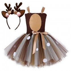 Santa's reindeer - girls costume - dress - set